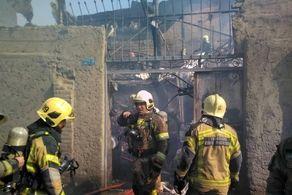 وقوع یک آتش سوزی مهیب دیگر در تهران
