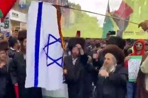 به آتش کشیدن پرچم اسرائیل در قلب انگلیس!
