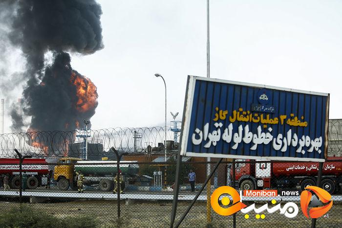وضعیت پالایشگاه تهران بعد از ۱۸ ساعت حریق