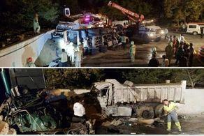 مرگ ٣ نفر در تصادف وحستناک کامیونها در ولنجک تهران