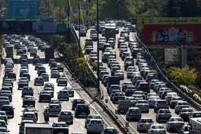 ترافیک سنگین در معابر پایتخت