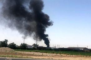 مهار آتش سوزی در خط لوله انتقال نفت روستای برومی اهواز+ فیلم