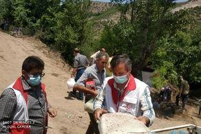 رانش زمین در رودبار/ توزیع بسته غذایی در مناطق آسیب دیده از رانش