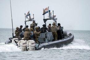 رزمایش نظامی_دریایی در نزدیکی مرزهای ایران برگزار شد+عکس