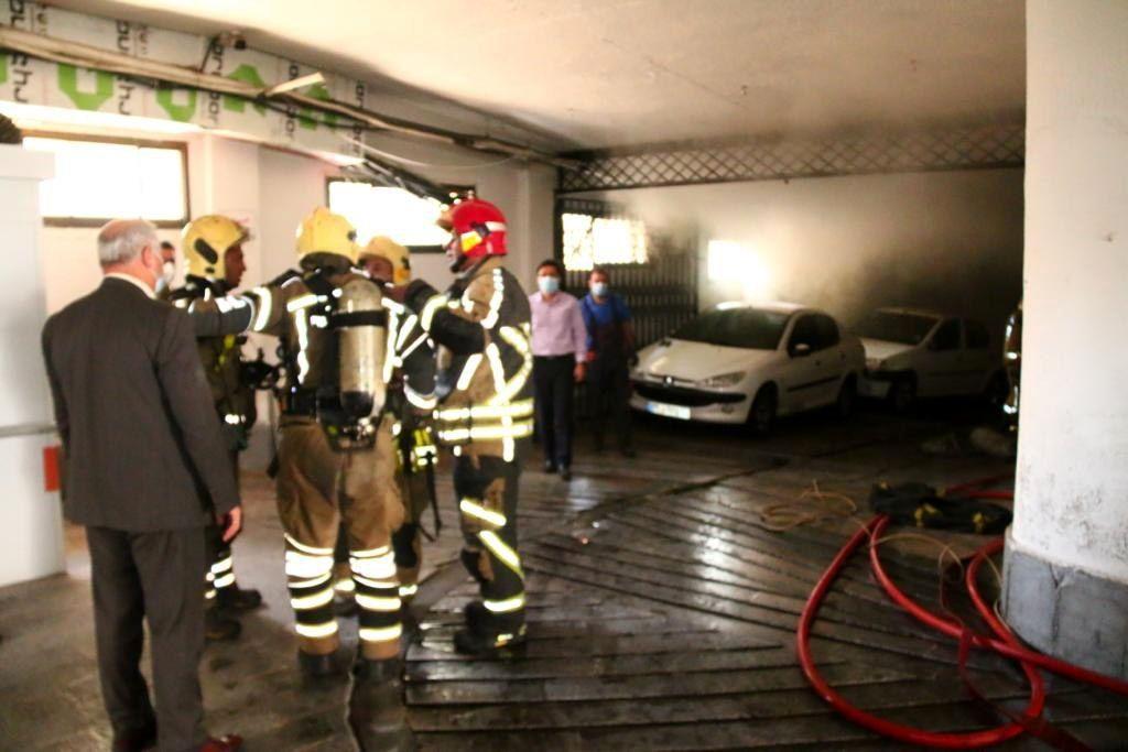 آتش سوزی مهیب در بیمارستان دی تهران+فیلم