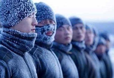 تصاویر عجیب یخزدن سربازان!