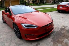 ثبت شتاب ۱.۹۹ ثانیهای تسلا مدل S پلاد در خیابان