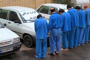 توقیف پراید سرقتی در عوارضی تهران - قم