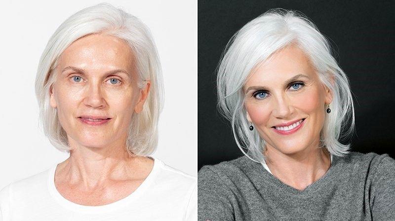 با موهای سفید در دنیای مد به درخشید