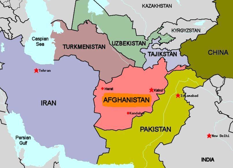 نقشه جدید اما جعلی افغانستان منتشر شد!