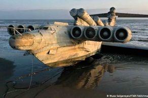 هیولای دریای خزر از آب بیرون کشیده شد + عکس
