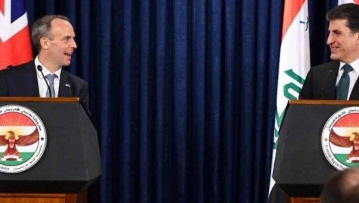 رایزنی بارزانی با وزیر امور خارجه انگلیس در اربیل/هدف از دیدار چه بود؟