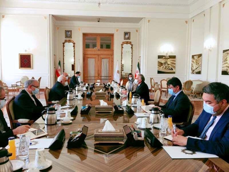 ظریف با نماینده دبیرکل سازمان ملل متحد در امور افغانستان دیدار کرد