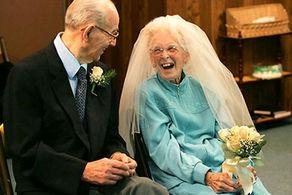 پیرترین عروس و داماد جهان + عکس