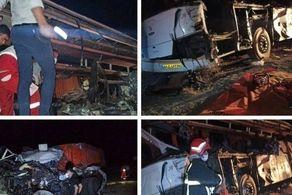 تصادف هولناک اتوبوس در محور یزد - مشهد/ شمار کشتهها و مجروحین اعلام شد