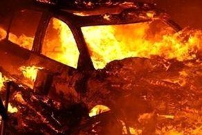 جدیدترین تصاویر از آتش سوزی هولناک یک خودرو در تونل بزرگراه پردیس+فیلم